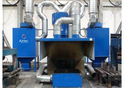 Airtec Absauganlagen: Absauganlage mit Rohrleitungssystem