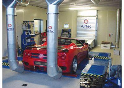 AIRTEC Absauganlagen zur Absaugung von Autoabgasen in Kfz-Werkstatt