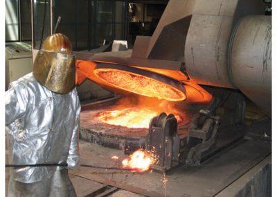AIRTEC Absauganlagen zur Absaugung von Funken und glühenden Partikeln in Metallgießerei