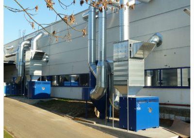 AIRTEC Absauganlagen: Absauganlagen im Außenbereich zur Hallenabsaugung