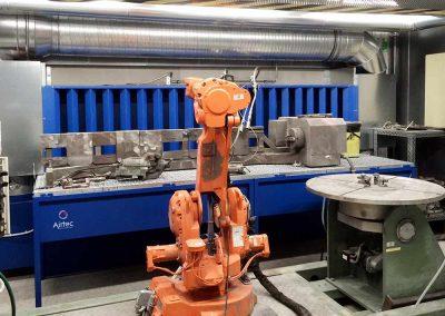 Absaugtisch zur Rauchabsaugung für Hochgeschwindigkeit-Flammspritz-Roboter