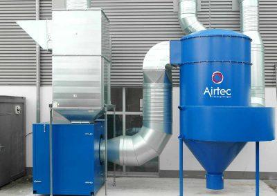 zentrale Absauganlage für Schweißrauch mit 40.000 ³/h Volumenstrom