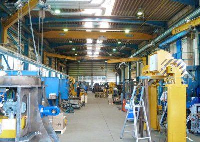 Schweissrauch-Hallenabsaugung im Inneren: Rohrleitungen, Rohrsystem